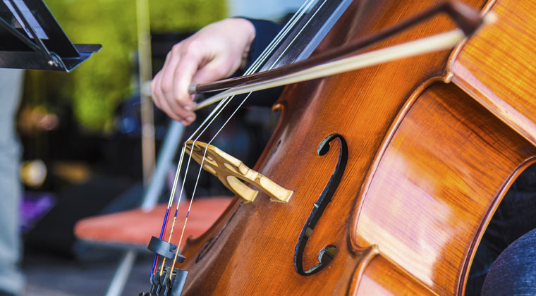 cellist playing compositions you can rock out to
