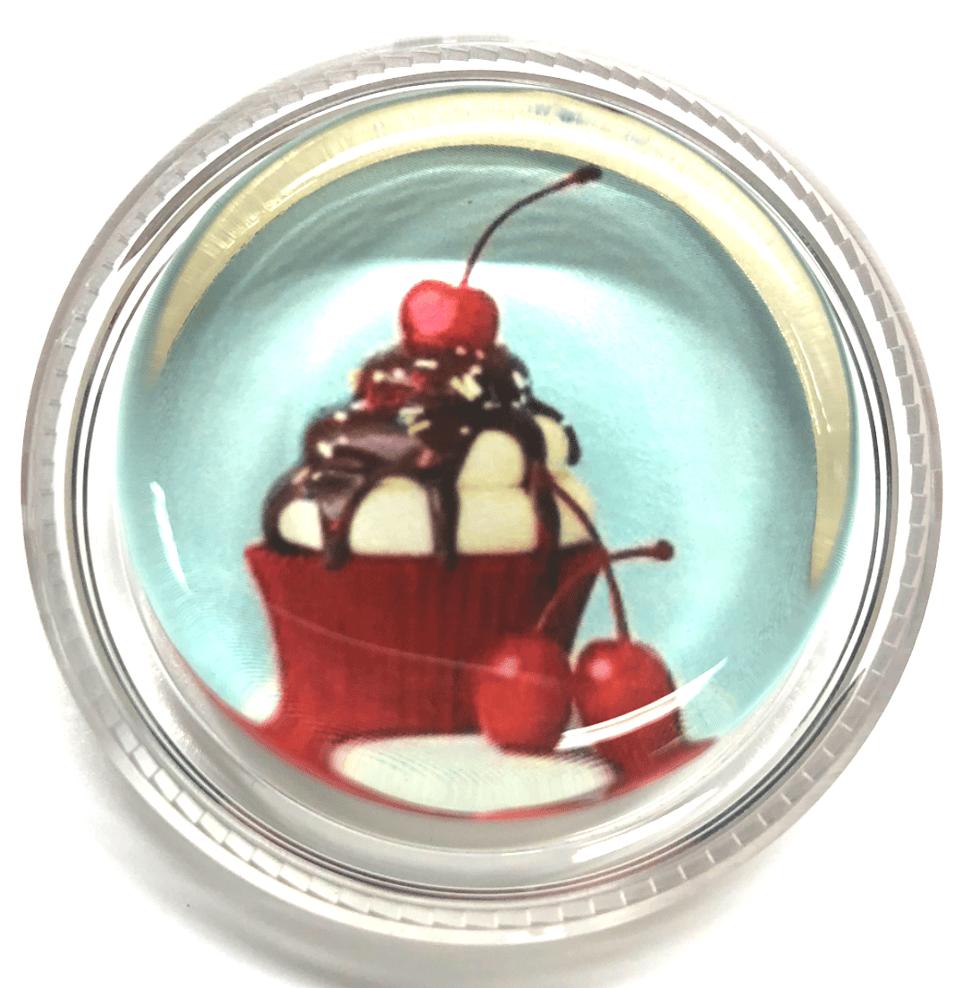 Cherry on top of an ice cream sundae