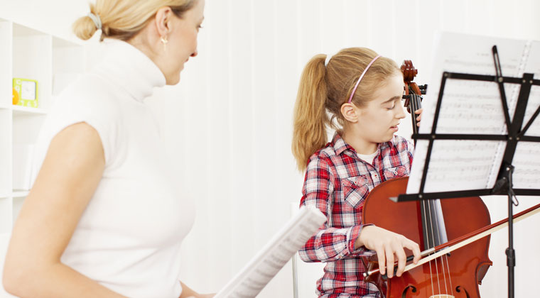 young cello player chose a great teacher