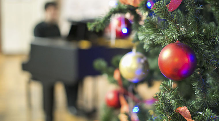 Christmas ornaments and tips on raising funds by hosting a holiday concert.