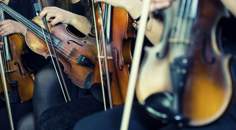 students with there violins and making mistakes while performing and how to recover