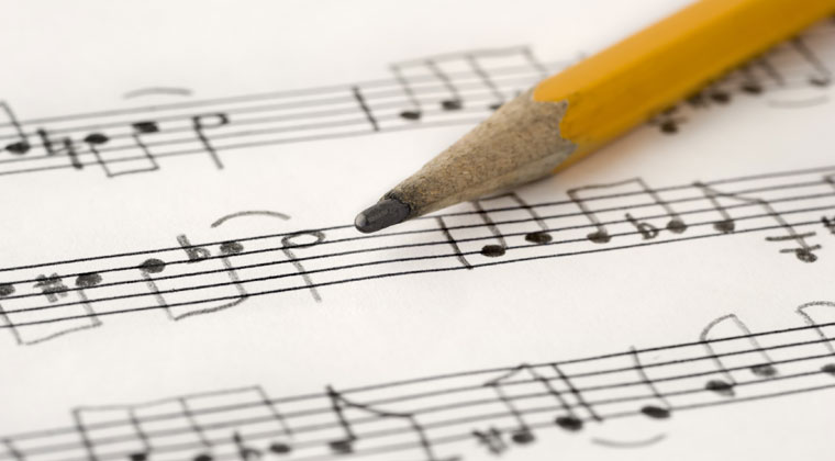 writing composition of music beginners style