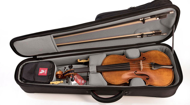 violin with winter tool kit to help you care for your string instrument