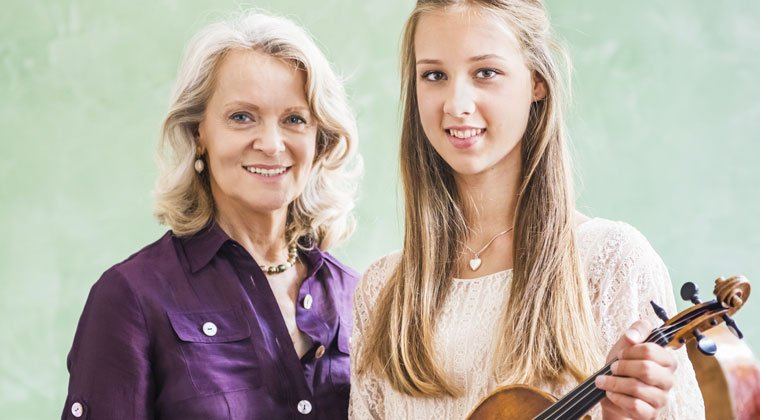 music teacher with her most gifted student