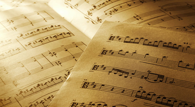 sheet music and tips for cataloging it