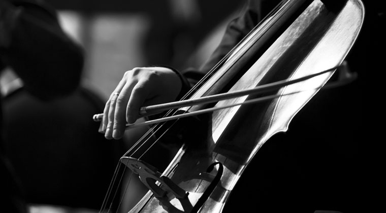 Close up of a cello being bowed and what to look for in a new bow.