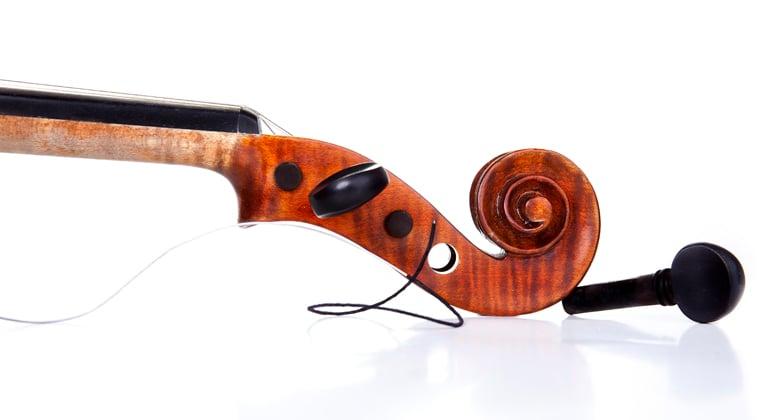 violin with broken string