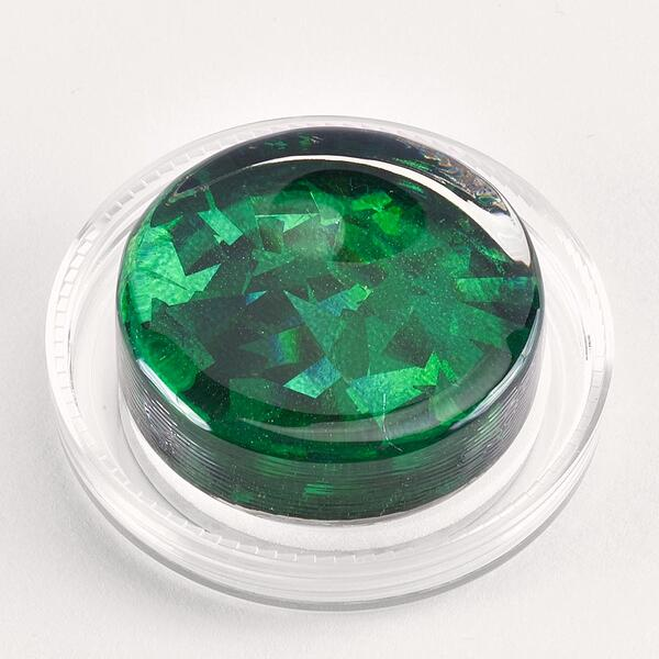 Green Shattered Glass Hologram Magic Rosin