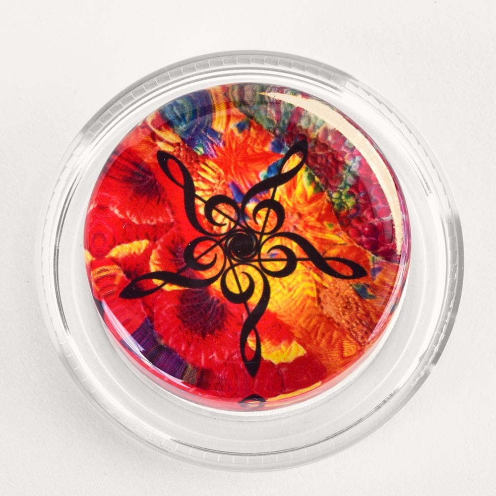 Image to go to information page for Groovy Kaleidoscope Treble Clef rosin
