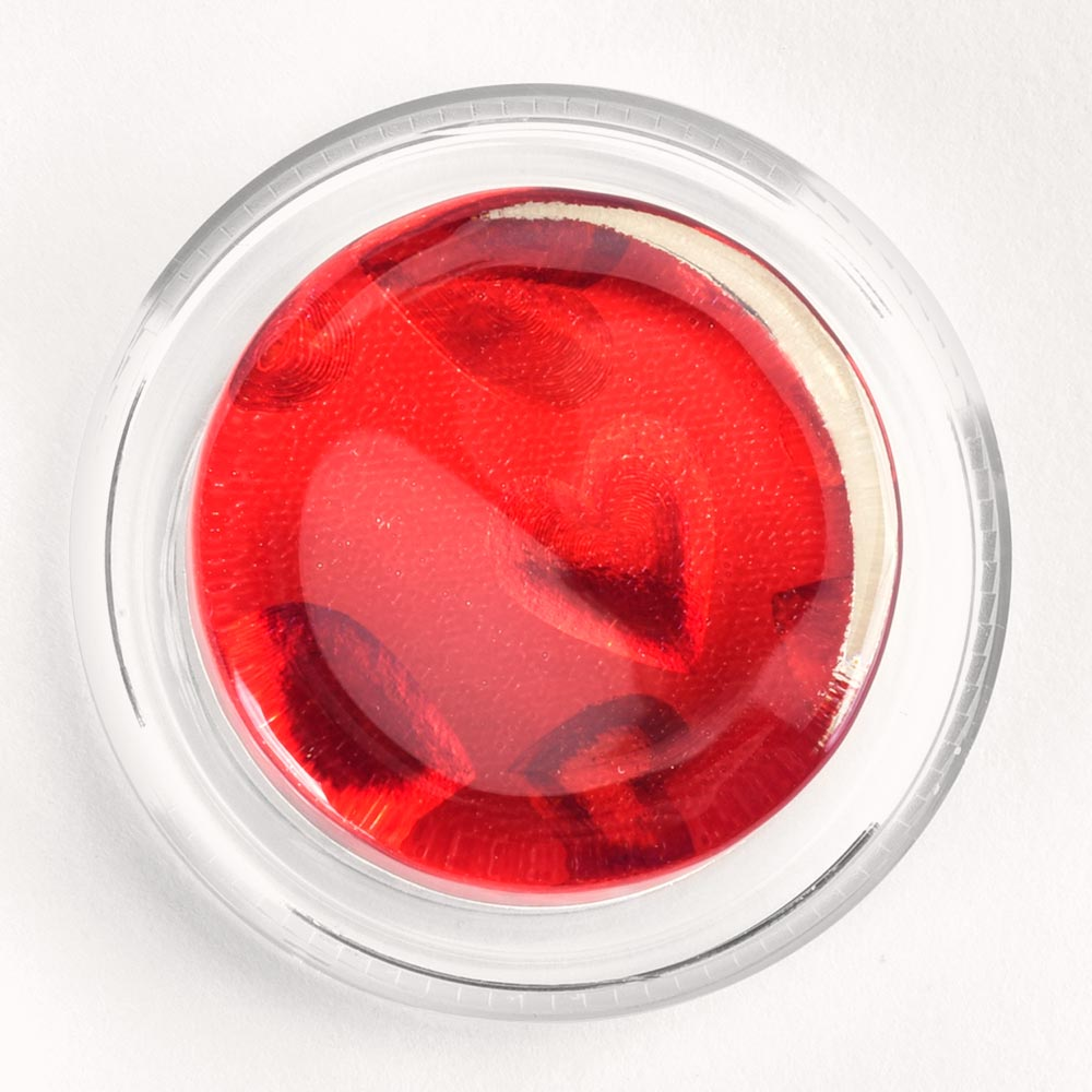 Image to go to information page for Red Hearts Hologram rosin
