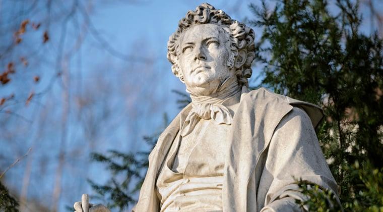 Statue of Schubert, the Romantic Era composer
