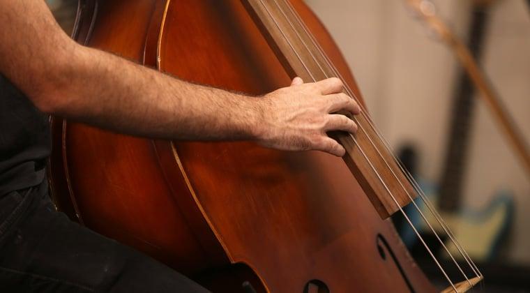 String bass player