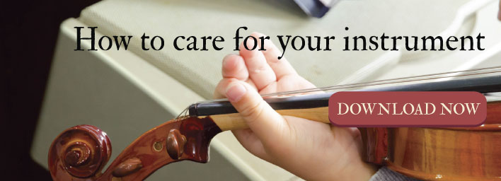 how to care for your instrument