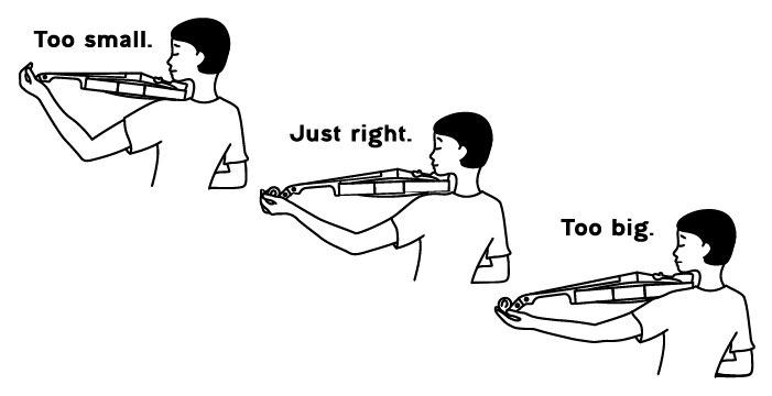 How to tell if your violin is too small or too big
