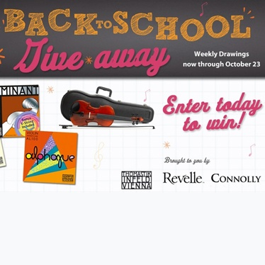 Get Your Back to School Music Giveaways!